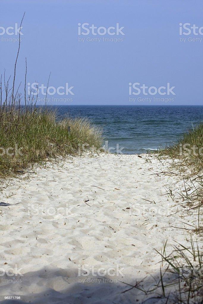 Beach Footpath royalty-free stock photo