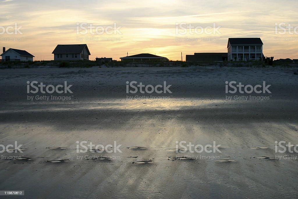 Beach Footprints royalty-free stock photo