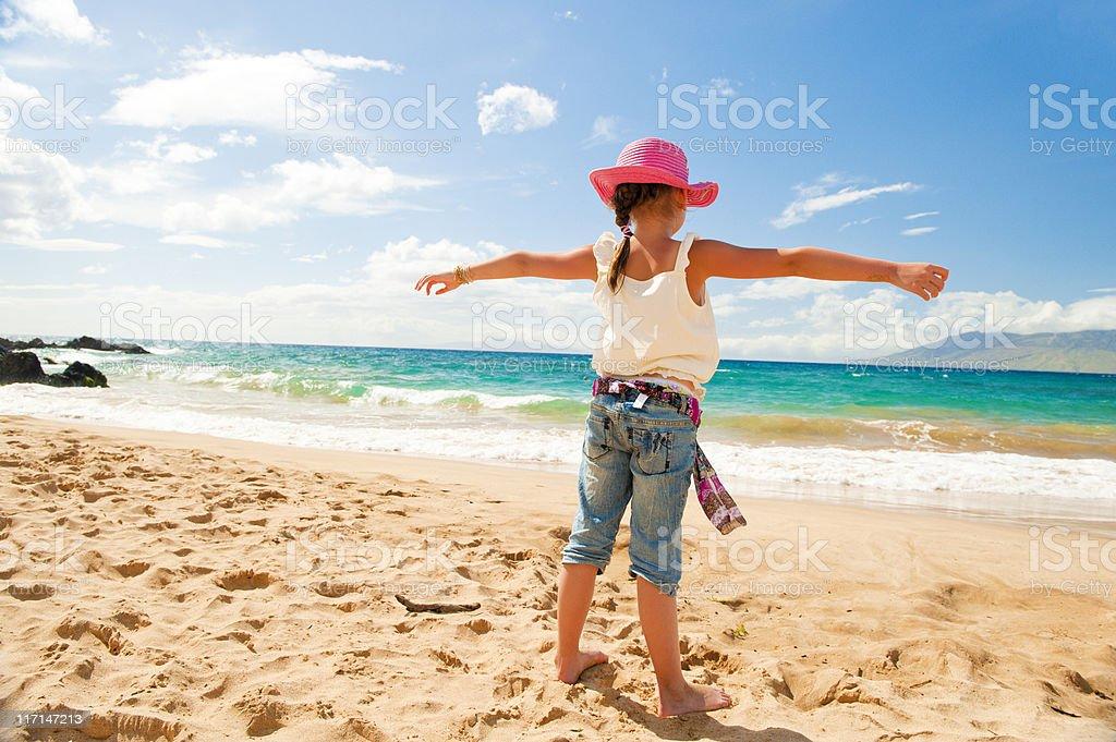 Beach Freedom stock photo