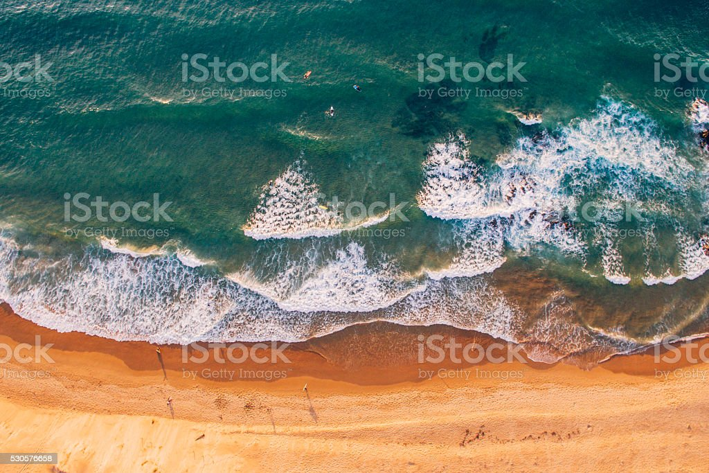 Beach from above royalty-free stock photo