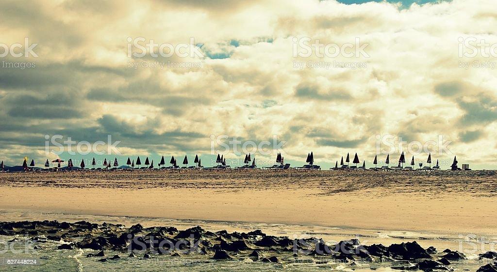 Beach from the Ocean stock photo