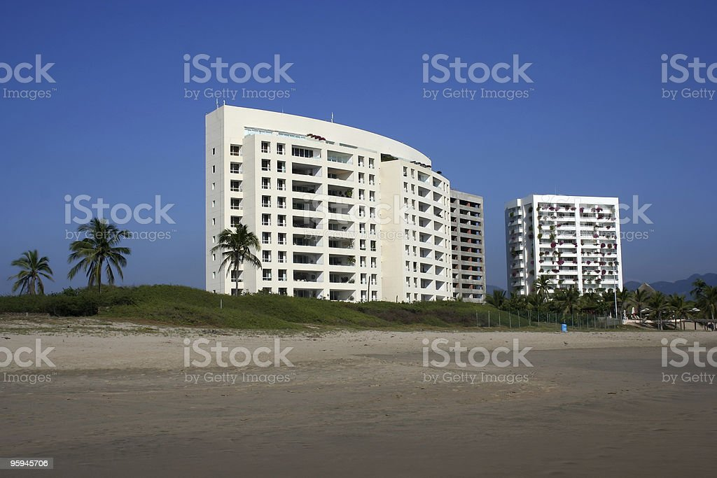 Beach Front Real Estate royalty-free stock photo