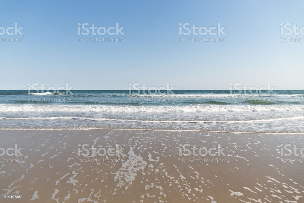 Beach Front view stock photo