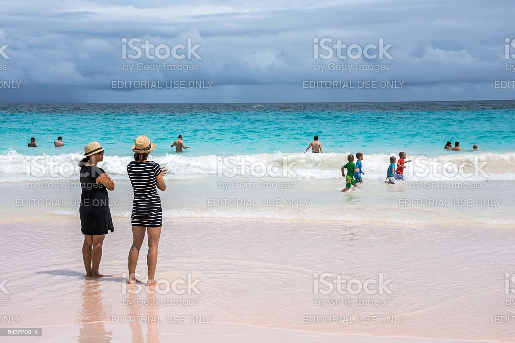 Beach Fun Bermuda stock photo
