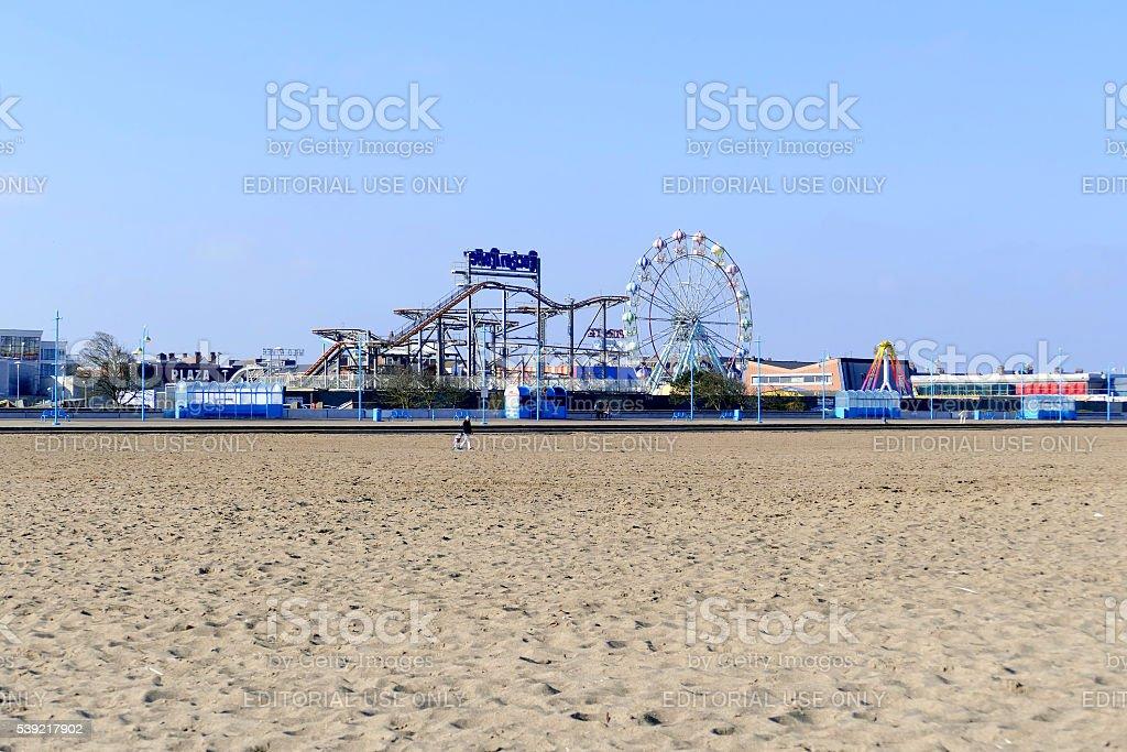 Beach Funfair. stock photo