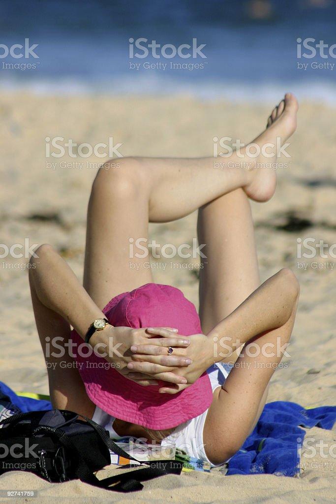 Beach Gal royalty-free stock photo
