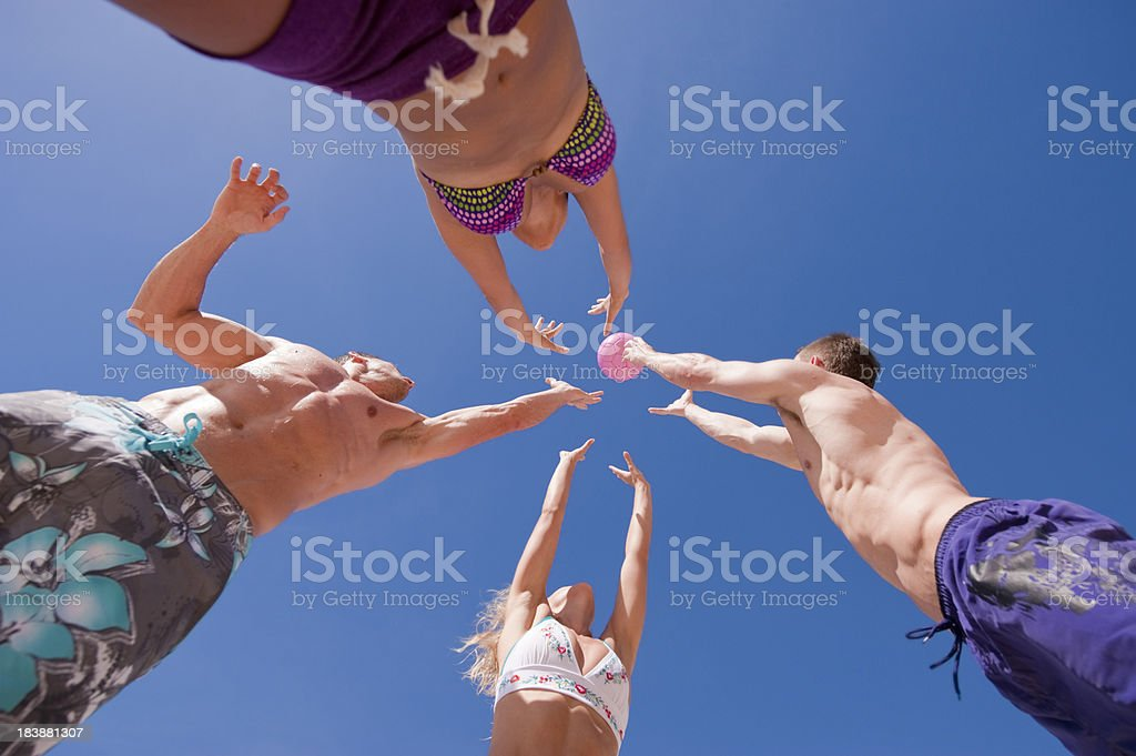 Beach Games royalty-free stock photo