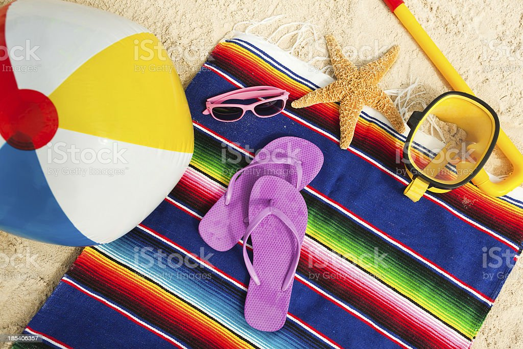 Beach Gear and Necessities for a Vacation stock photo