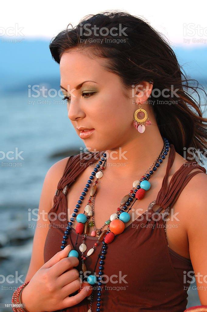 Beach girl 6 stock photo