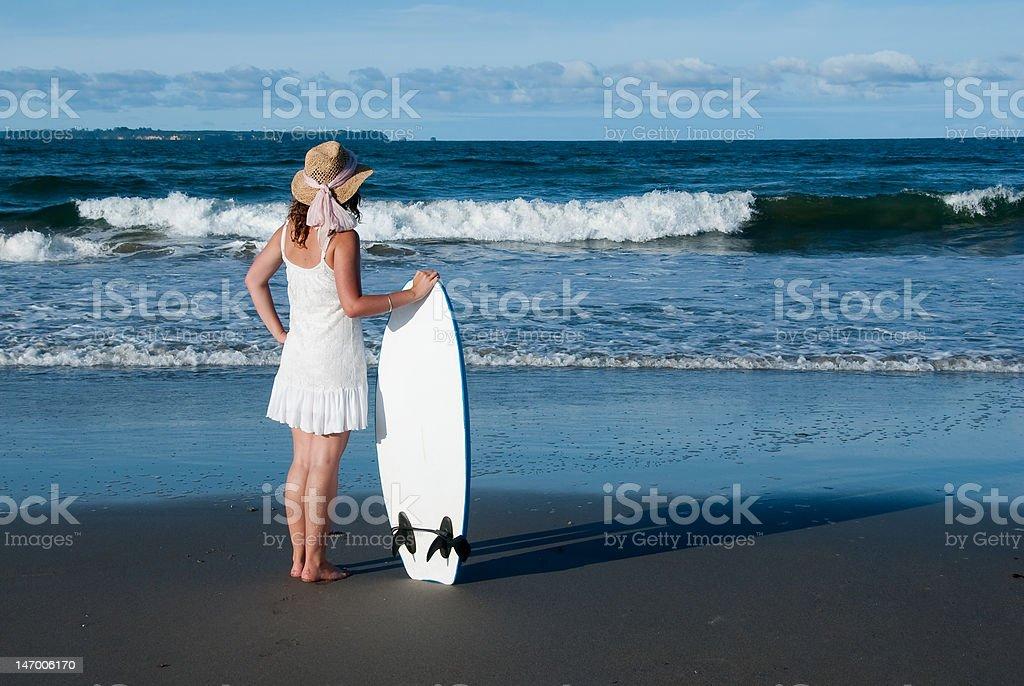Chica de playa foto de stock libre de derechos