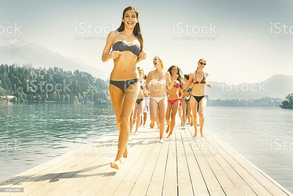Beach Girls royalty-free stock photo