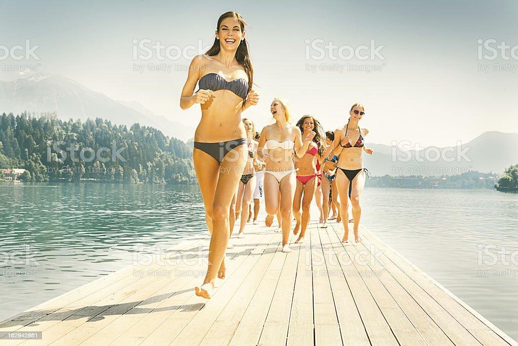 Beach Girls stock photo