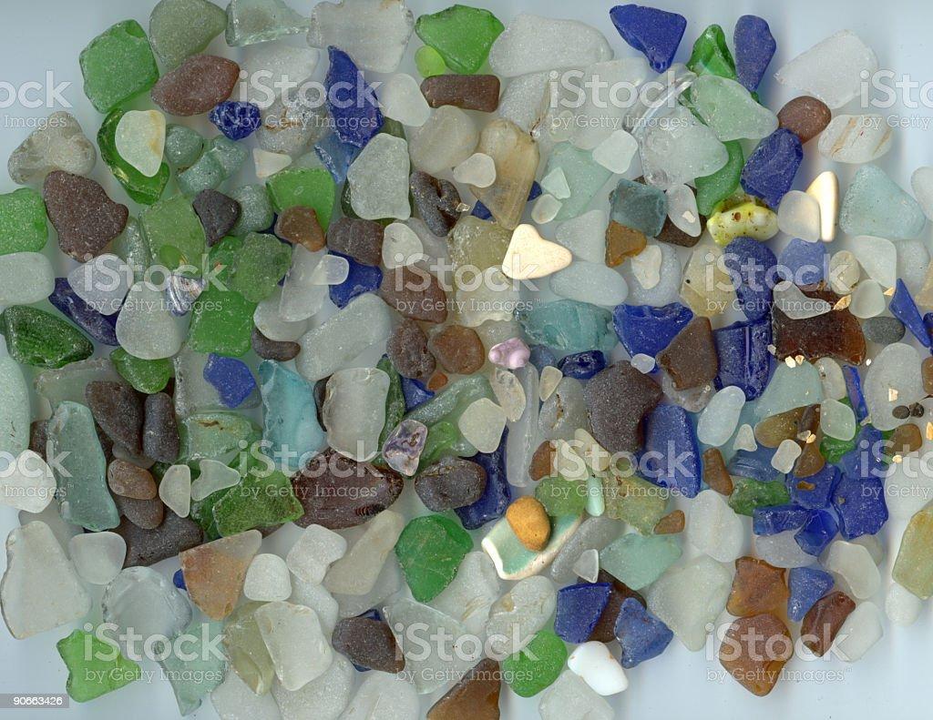 Beach Glass Collection stock photo