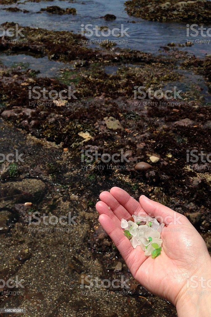 Beach Glass royalty-free stock photo