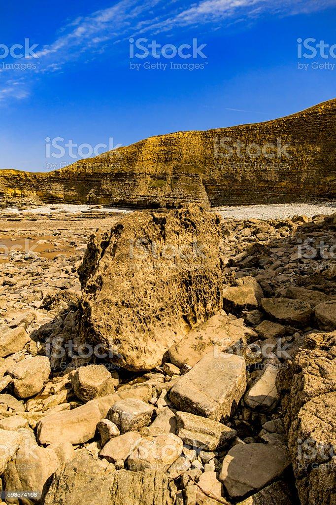 beach gower peninsula stock photo