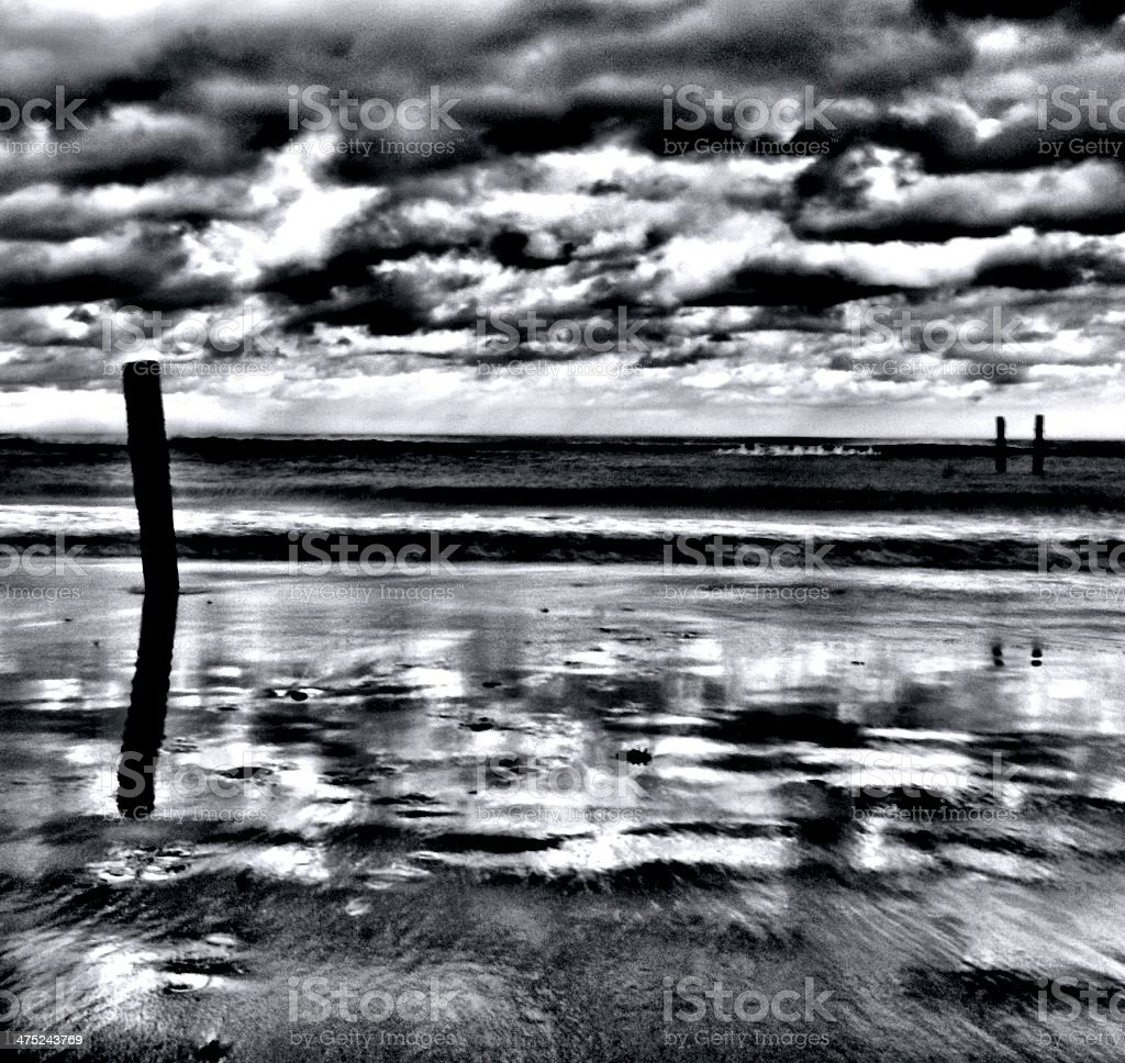 Beach Groyne at Happisburgh stock photo
