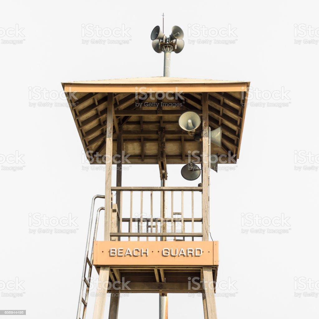 beach guard tower stock photo