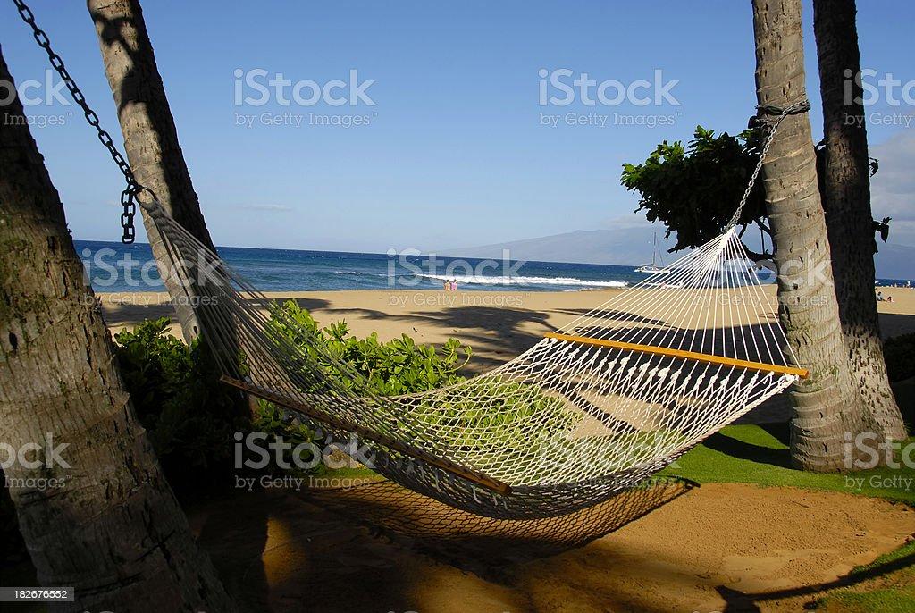 Beach Hammock stock photo