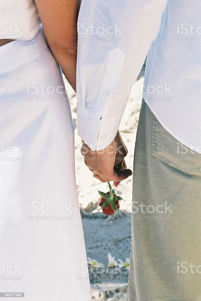 Beach Hands royalty-free stock photo