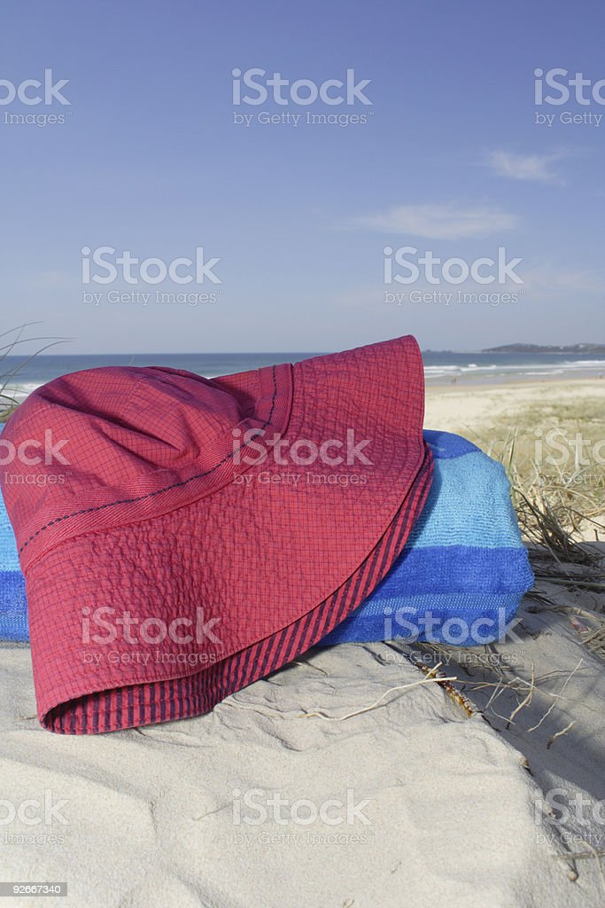 beach hat -- bucket style (portrait) royalty-free stock photo