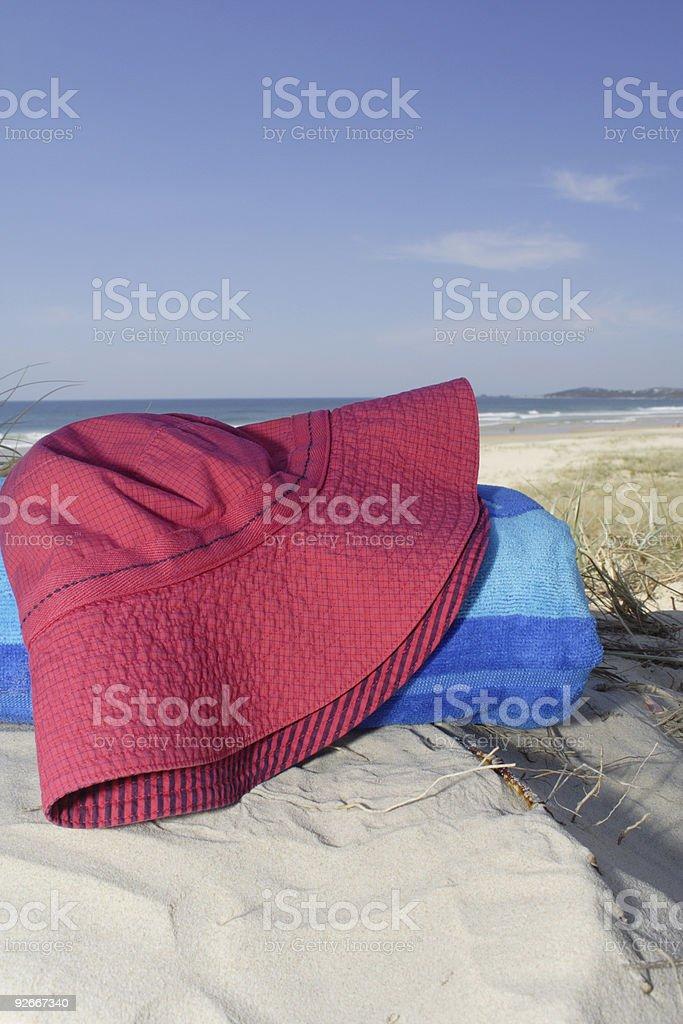 beach hat -- bucket style (portrait) stock photo