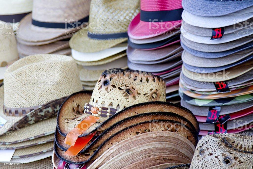 Beach Hats stock photo