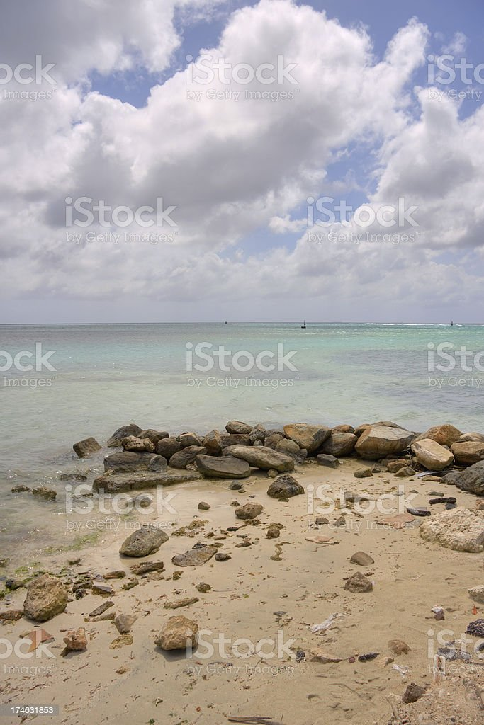 Beach hdr image royalty-free stock photo