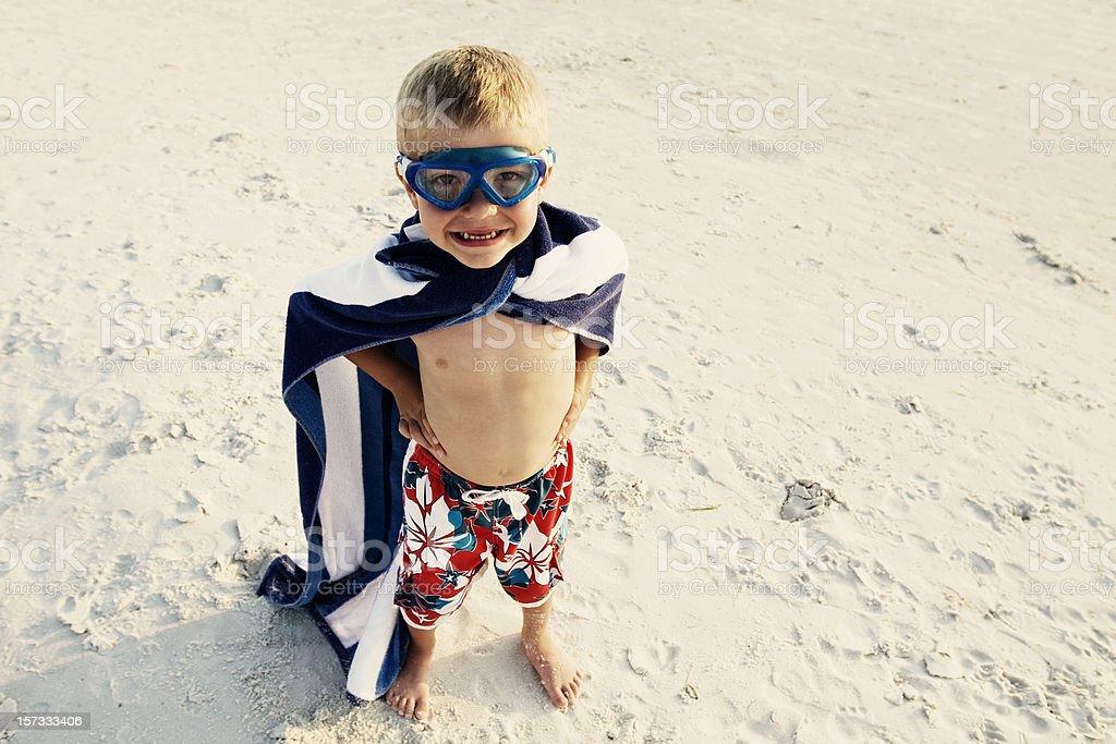 Beach Hero stock photo