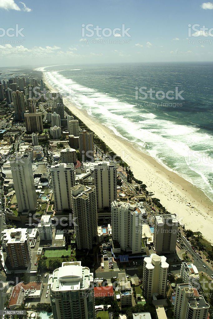 beach high rise apartments royalty-free stock photo