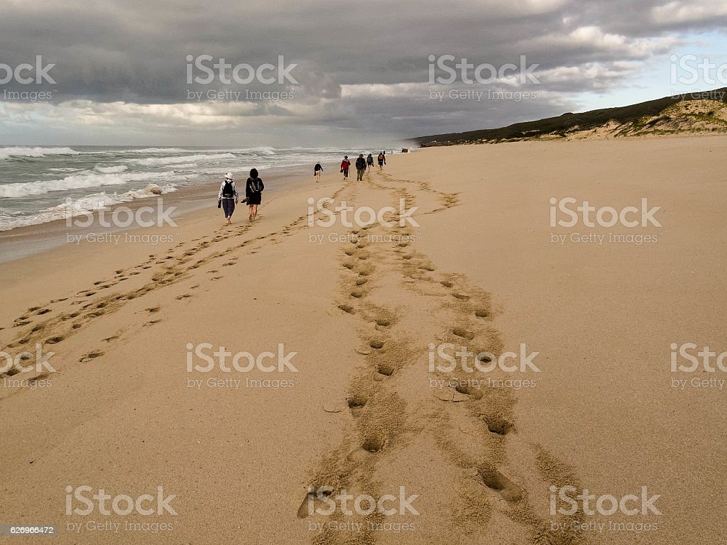 Beach Hike stock photo