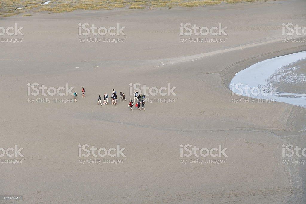 beach hike stock photo