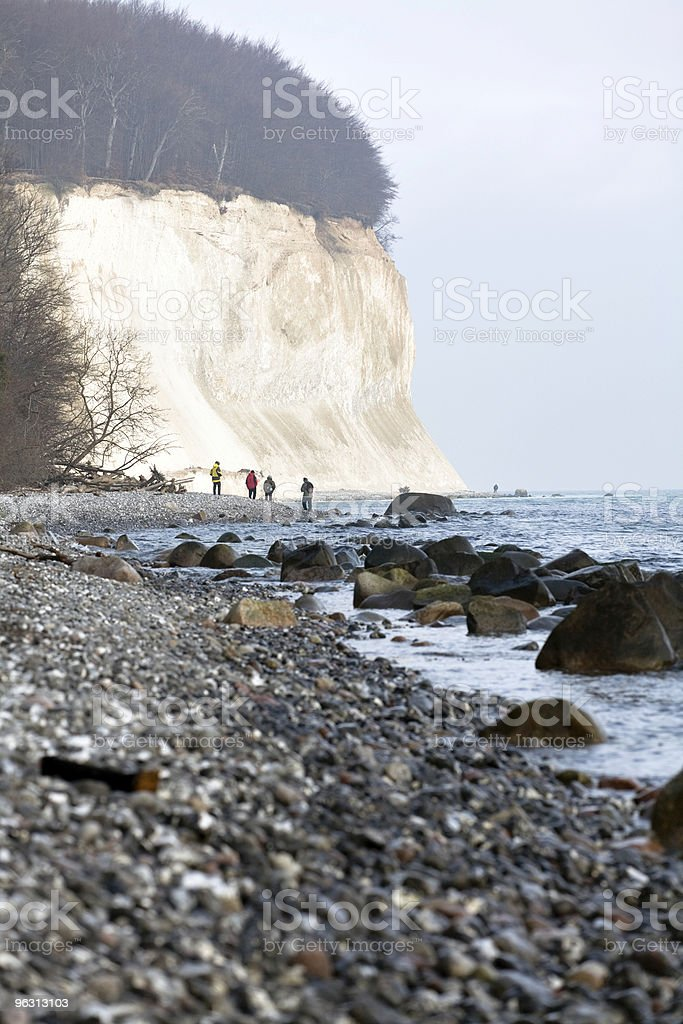 Beach hikers stock photo