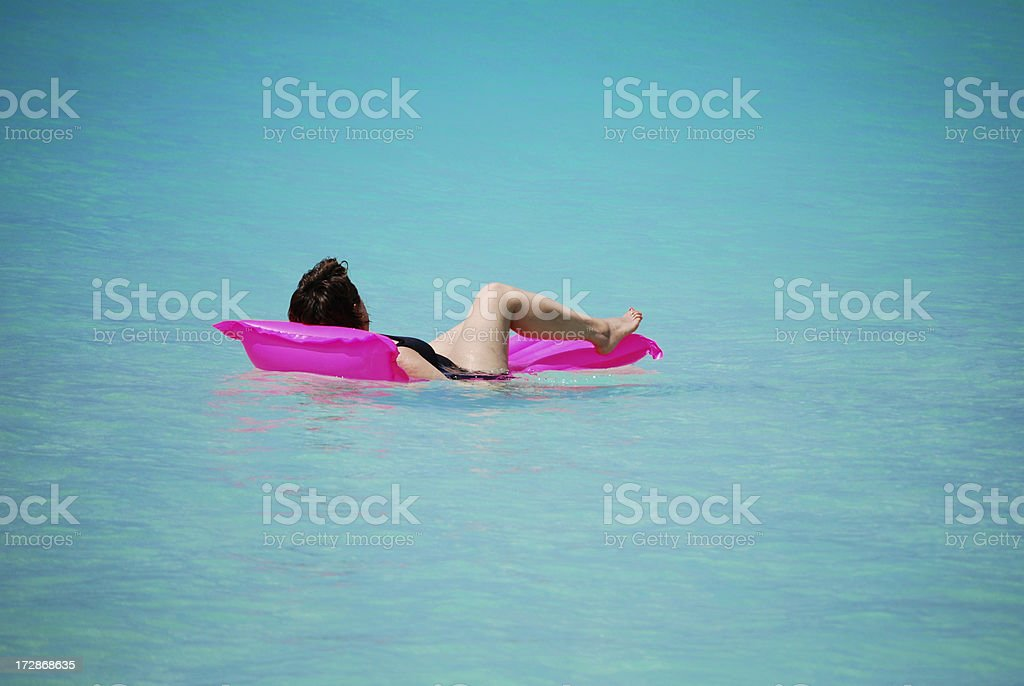Beach holiday relaxation! royalty-free stock photo