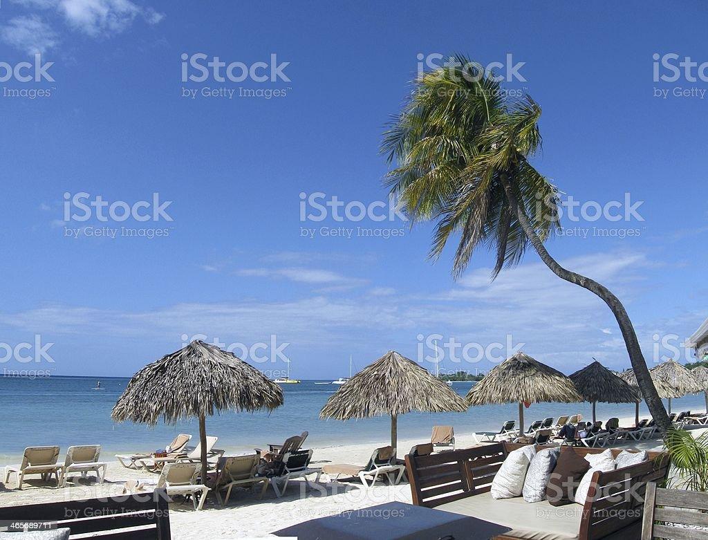 Beach holiday scenery stock photo