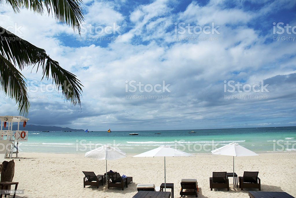 Beach hotel royalty-free stock photo