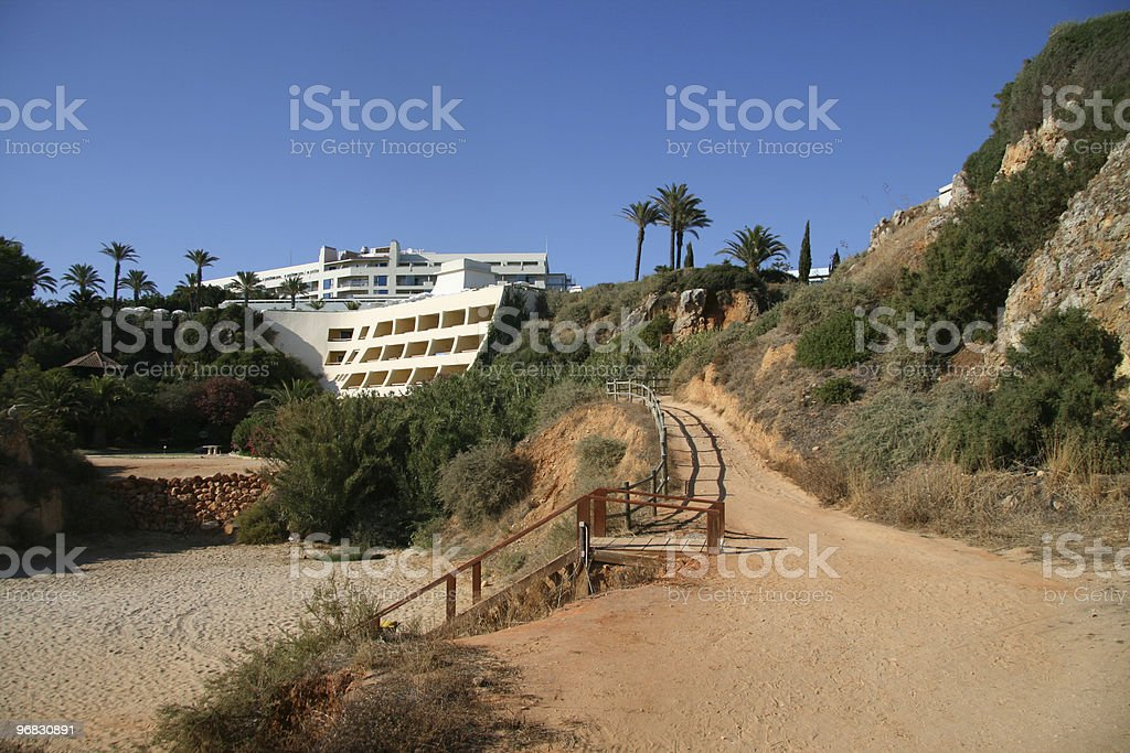 Beach Hotel royalty-free stock photo