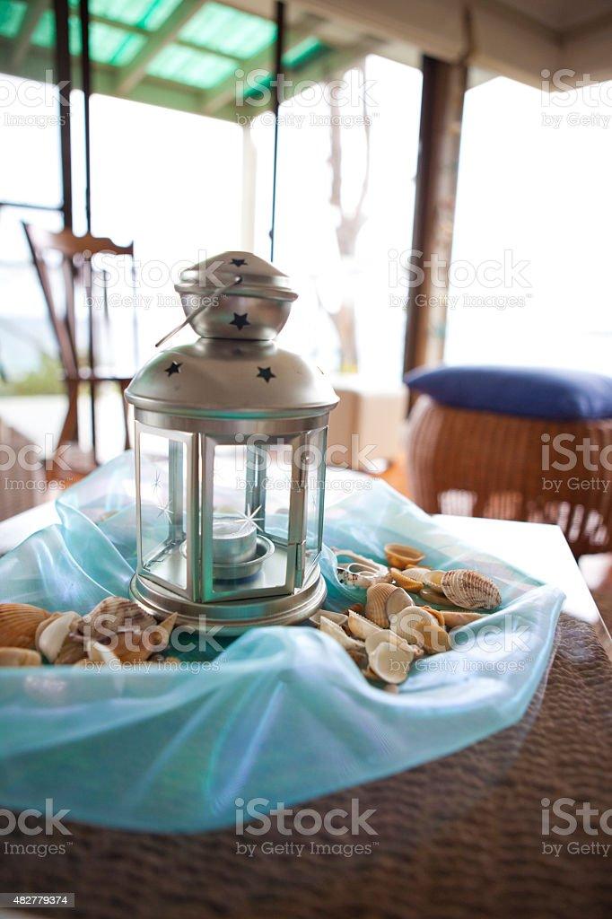 Beach House Lantern stock photo