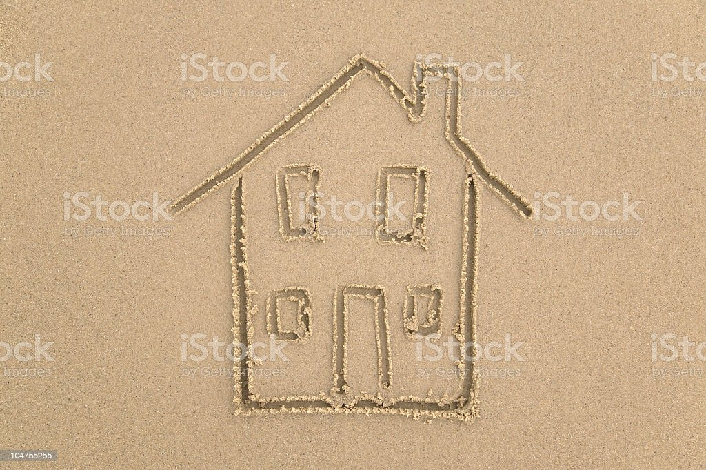 Beach house. stock photo