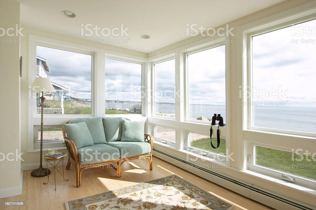 Beach House Sunroom royalty-free stock photo