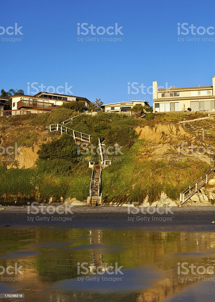 beach houses royalty-free stock photo