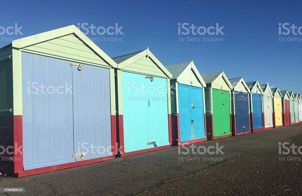 Beach hut Brighton stock photo