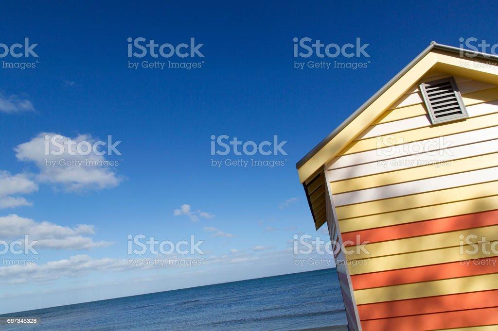 Beach Hut - Melbourne stock photo