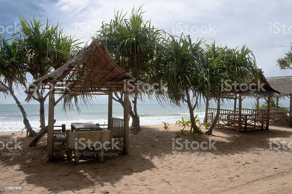 Beach Hut On Sai Kaew Beach In Phuket, Thailand stock photo