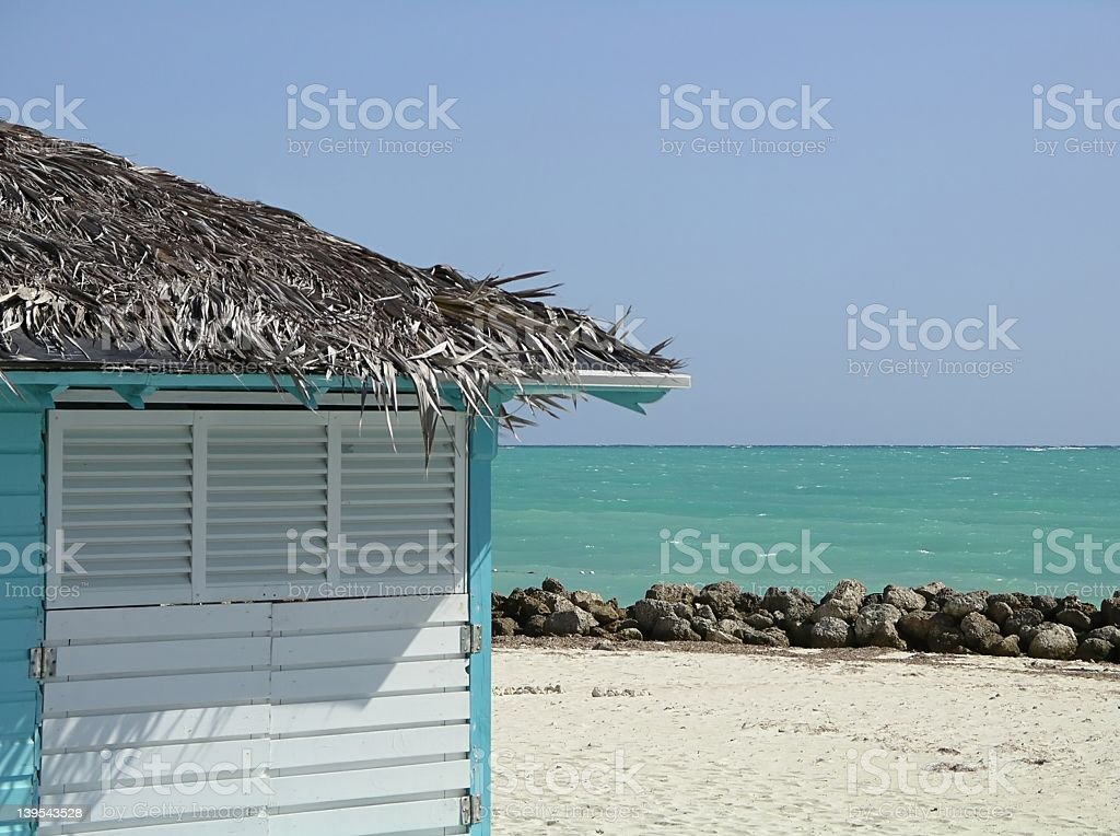 Beach Hut royalty-free stock photo