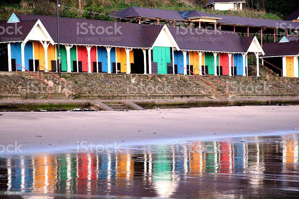 Caseta de playa foto de stock libre de derechos