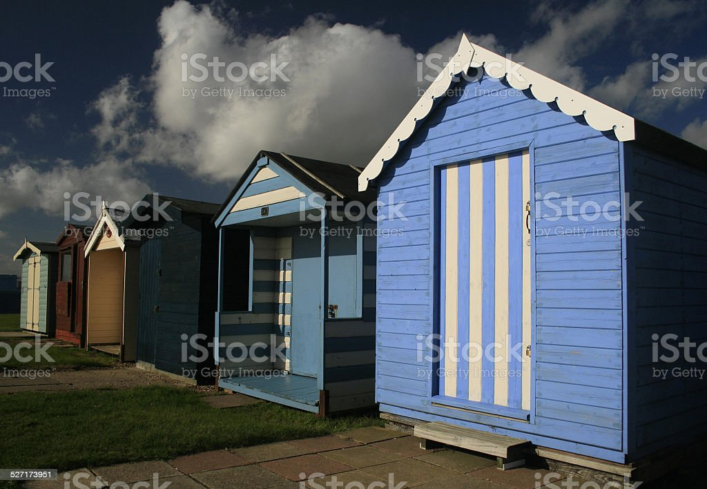 Beach Hut Sunshine stock photo