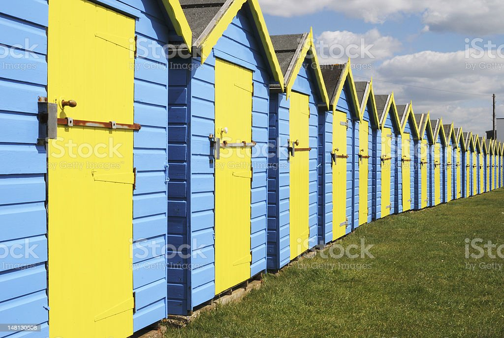 Beach huts at Bognor Regis. Sussex. England royalty-free stock photo