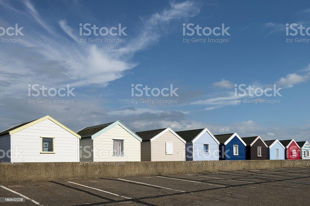 Beach Huts at Southwold, Suffolk, UK royalty-free stock photo