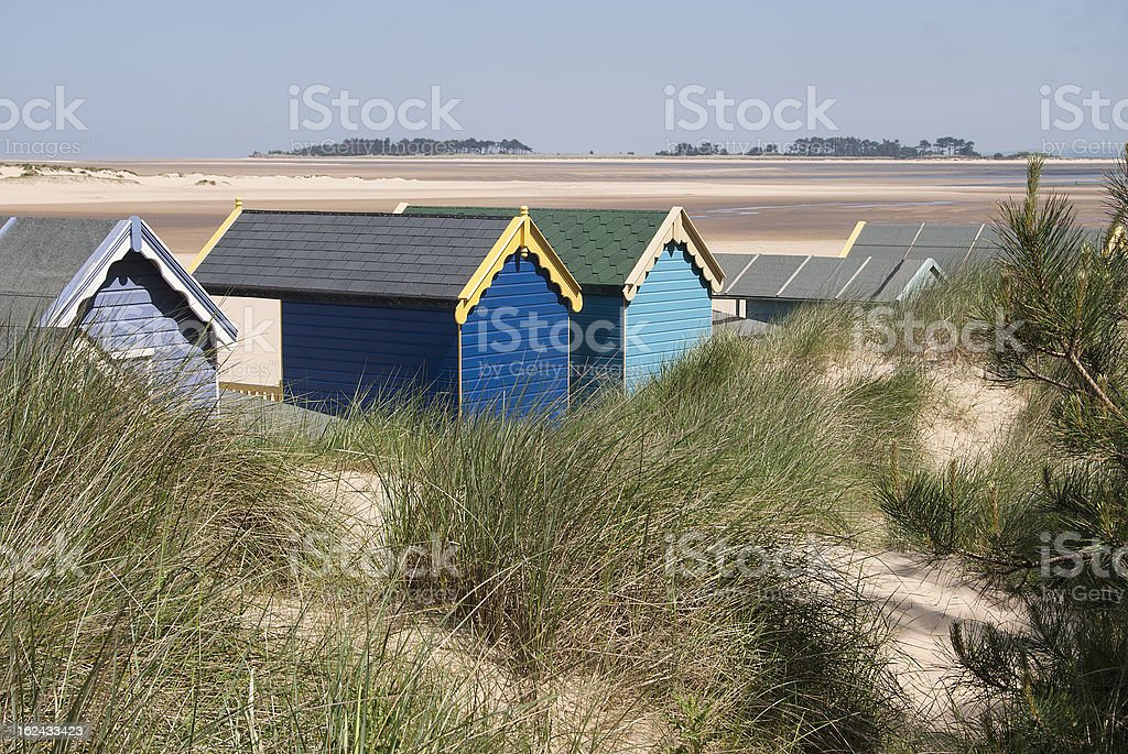 Beach Huts at Wells-next-the-Sea, Norfolk, UK. royalty-free stock photo