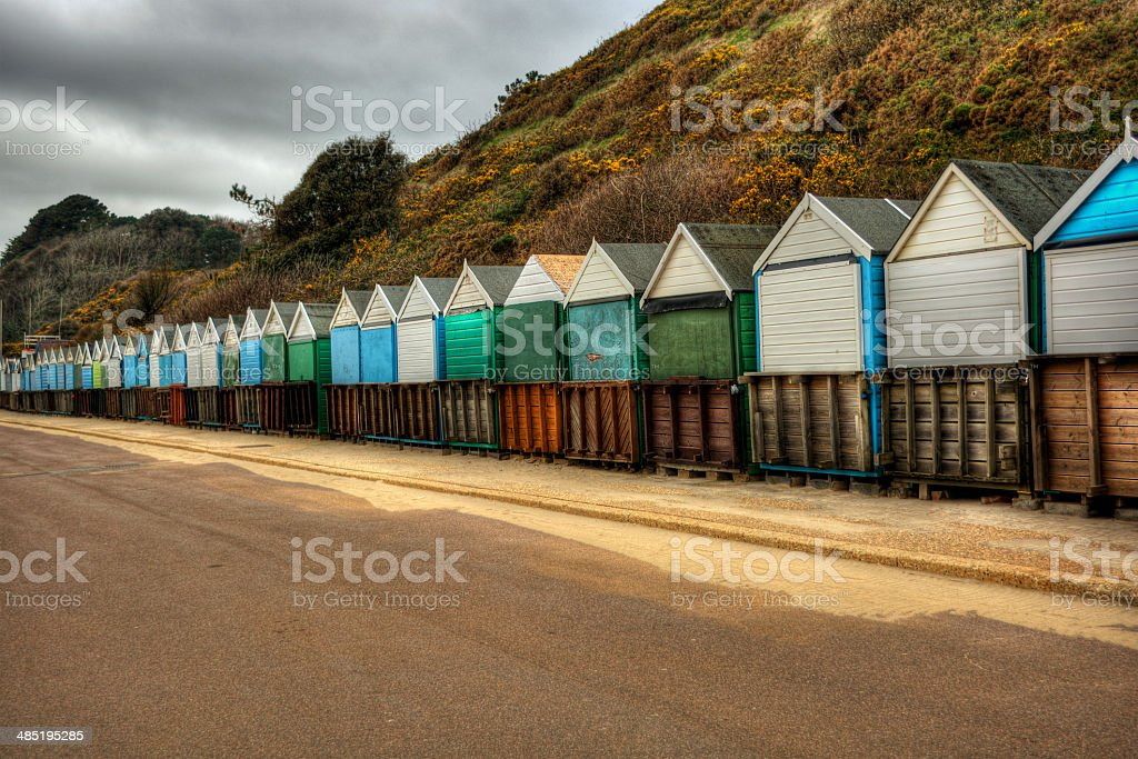 Beach Huts HDR stock photo